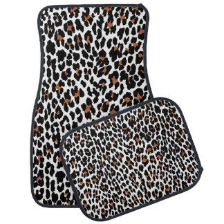 ジャガーのアニマルプリントパターン カーマット