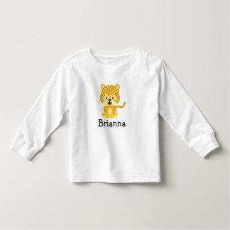 ジャガーのカスタムな幼児の長袖のTシャツ トドラーTシャツ