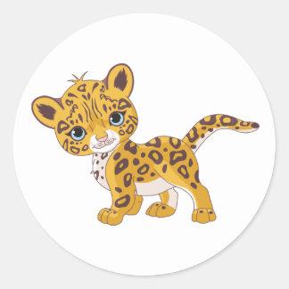 ジャガーのカブスのステッカー ラウンドシール