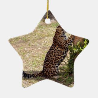 ジャガーのクリスマスのオーナメント セラミックオーナメント