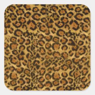 ジャガーのプリント、ジャガーの毛皮パターン、ジャガーの点 スクエアシール