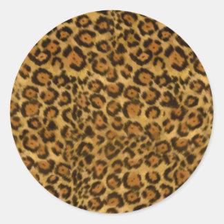 ジャガーのプリント、ジャガーの毛皮パターン、ジャガーの点 ラウンドシール