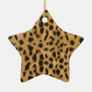 ジャガーのプリント、模造のな毛皮パターン セラミックオーナメント