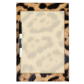 ジャガーの毛皮の写真のプリント ホワイトボード