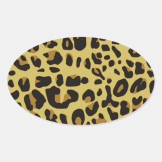 ジャガーの質 楕円形シール