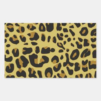ジャガーの質 長方形シール