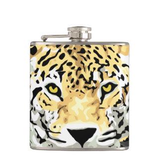 ジャガーの顔のスキットル フラスク