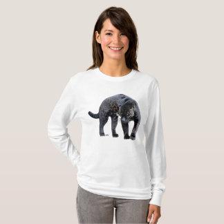 ジャガーのDiabloの女性の長い袖のワイシャツ Tシャツ