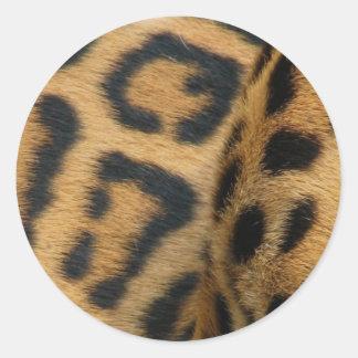 ジャガーパターンステッカー ラウンドシール