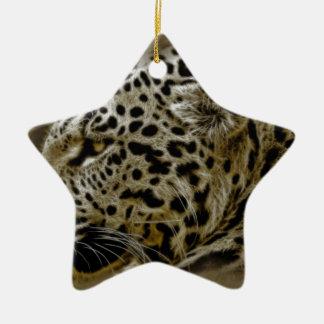 ジャガー猫は運命の自然のサファリに斑点を付けます セラミックオーナメント