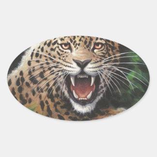 ジャガー 楕円形シール