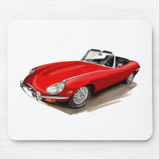 ジャガーXKEの赤車 マウスパッド