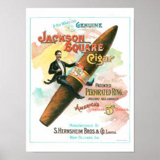 ジャクソンの正方形のシガー ポスター