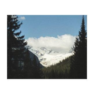 ジャクソンの氷河はグレーシャー国立公園で見落とします キャンバスプリント
