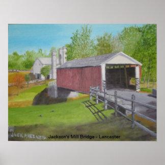 ジャクソンの製造所橋IV -ランカスター プリント