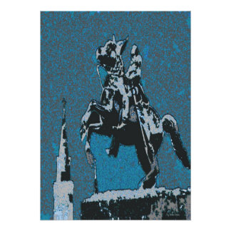 ジャクソンの馬Blue14 プリント