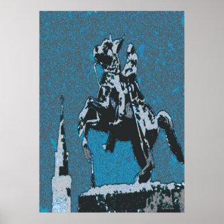 ジャクソンの馬Blue14 ポスター