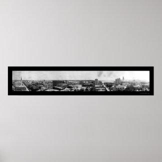 ジャクソンビルのスカイラインの写真1908年 ポスター
