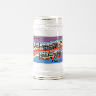 ジャクソンビルのビーチのフロリダFL古い旅行記念品 ビールジョッキ