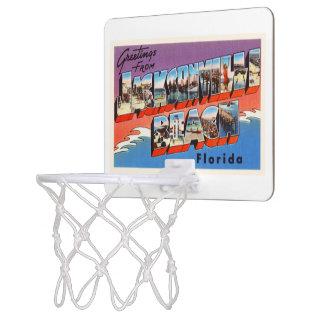 ジャクソンビルのビーチのフロリダFL古い旅行記念品 ミニバスケットボールゴール