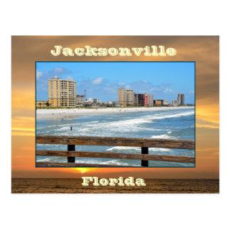 ジャクソンビルのビーチ、フロリダ ポストカード