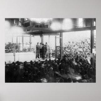 ジャクソンビルのボクシング試合、1890年代 ポスター