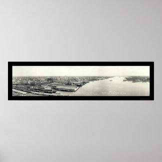 ジャクソンビルの空気の写真1921年 ポスター