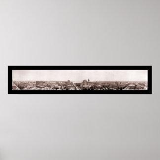 ジャクソンビルの都心の写真1910年 ポスター