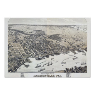 ジャクソンビルフロリダのヴィンテージポスター ポスター
