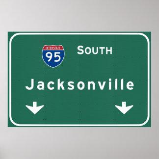 ジャクソンビルフロリダの州間幹線道路の高速道路: ポスター