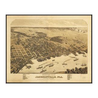 ジャクソンビルフロリダ(1876年)の鳥目眺め キャンバスプリント