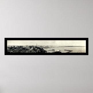 ジャクソンビル港の写真1910年 ポスター