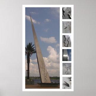 ジャクソンビル記念碑の勉強 ポスター