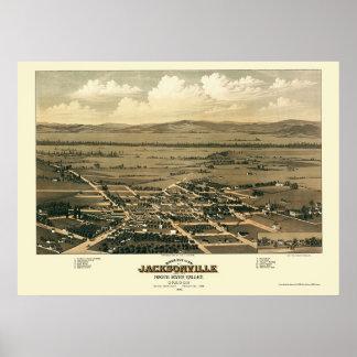 ジャクソンビル、かパノラマ式の地図- 1883年 ポスター