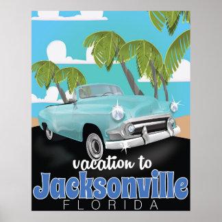 ジャクソンビル、フロリダ、米国のヴィンテージ旅行ポスター ポスター