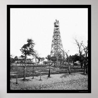ジャクソンビル、FL 1865年の信号タワー ポスター