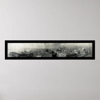 ジャクソンビルFLの写真1909年 ポスター