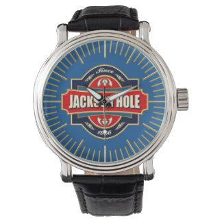 ジャクソンホールの古いラベルの腕時計 腕時計