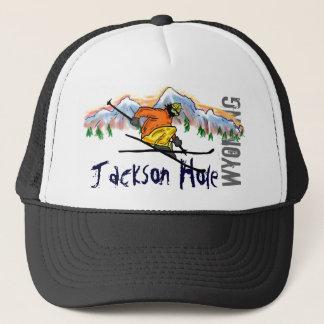 ジャクソンホールワイオミングのスキー帽子 キャップ