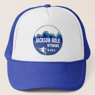 ジャクソンホールワイオミングの青いスキー芸術の帽子 キャップ
