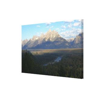 ジャクソンホール山(Tetonの壮大な国立公園) キャンバスプリント