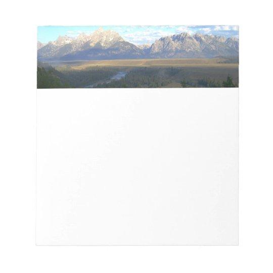 ジャクソンホール山(Tetonの壮大な国立公園) メモパッド