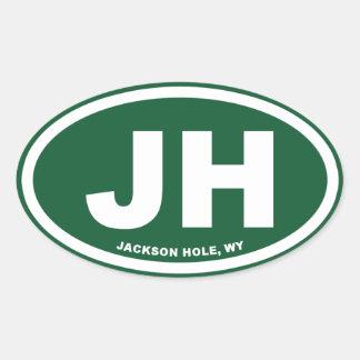 ジャクソンホール 楕円形シール