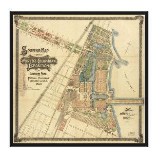 ジャクソン公園及び中間のPlaisance、シカゴ、イリノイ キャンバスプリント