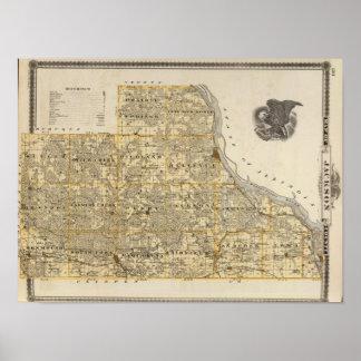 ジャクソン郡2の地図 ポスター