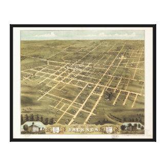 ジャクソン、テネシー州(1870年)の鳥瞰的な眺め キャンバスプリント