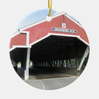 ジャクソンNHの屋根付橋 セラミックオーナメント