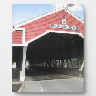 ジャクソンNHの屋根付橋 フォトプラーク