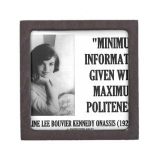 ジャクリーンケネディ最低情報礼儀 ギフトボックス