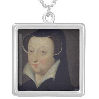 ジャクリーンde Rohan、Duchesse de Longueville シルバープレートネックレス